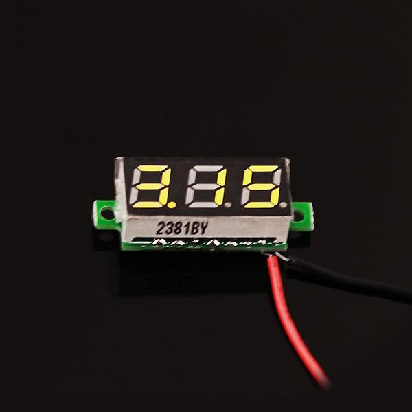 0.28 Inch LED digital DC voltmeter - Yellow [114990165]