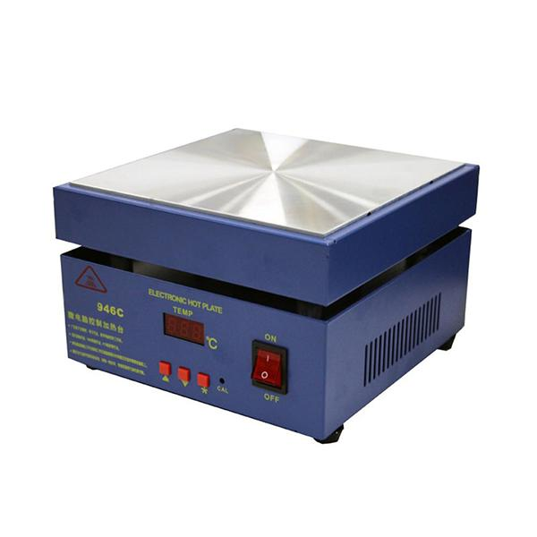100x100mm 946C 110 220V 450W hot plate heated warm-up pre-heat soldering station, SMD - 220V EU Plug