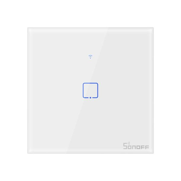 The SONOFF® T1 EU / UK AC 100-240V 1/2/3 Gang TX Series WIFI wall switch 433Mhz RF Remote Controlled Switch Wifi Switch Smart Home also works with Alexa Google Home - EU 1Gang