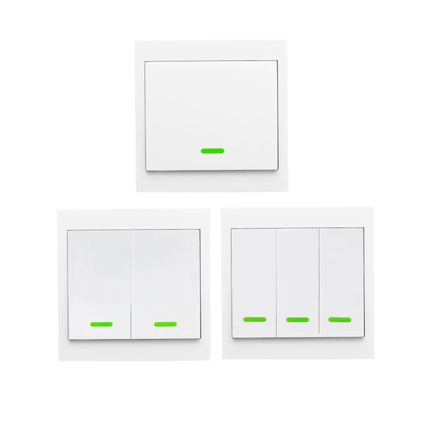 Wireless remote home living room bedroom smart transmitters fixed RF TX 433MHZ 86 wall panels are SONOFF RF / RFR3 / Slampher / iFan03 / 4CHProR2 / TX Series / 433 operating with the RF Bridge - 3CH