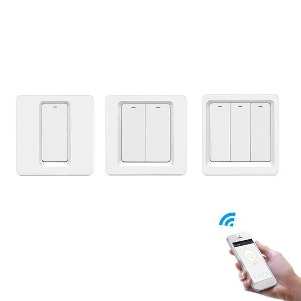 Geekcreit® 1/2/3 Gang WiFi Smart push-button light switch Smart Life / tuya APP remote Alexa Google Home conjunction with the Voice Control - 2CH